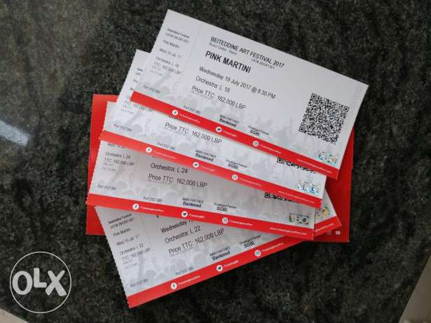 Pink Martini Beiteddine Tickets