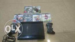 Ps3 Slim 250gb 6 Games 2 Controllers PlayStation