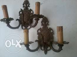 Antique French chandeliers, heavy Bronze, each 20$,