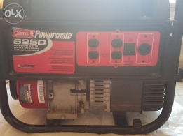 coleman electric generator,10hp briggs and stratton engin,20 amp