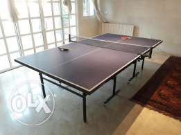 Topten Ping Pong Table Tennis Table with Adidas Raquets
