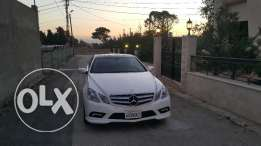 E 350 coupe 2010 ajnabiyi pearl white supper clean mercedes e-class