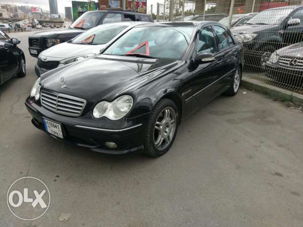 Mercedes C32 AMG full 349 hp v6 supercharged انطلياس -  3