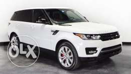 Range Rover Sport Autobiography V8 2014 white on red, Fully loaded