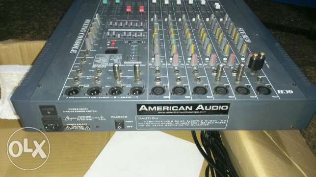 American audio 6 channel mono + sterio + phontom power 48v verry clean Mixer