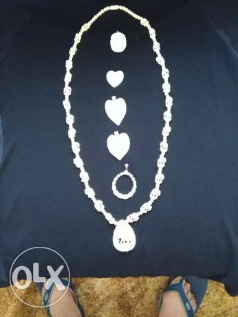 Handmade ivory lady''s necklace & access