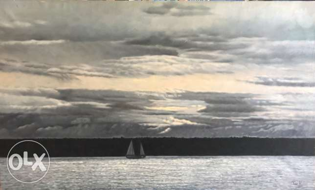 Into the grey Oil Painting For Sale.