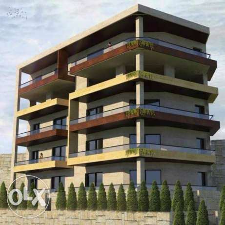 Zahle ksara brand new apartment with small garden for sale .