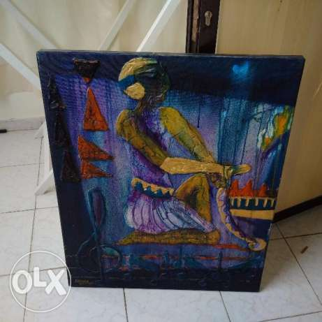 Egyptian paintings in 3D . 50 years old,imported from Egyptian Pyramid