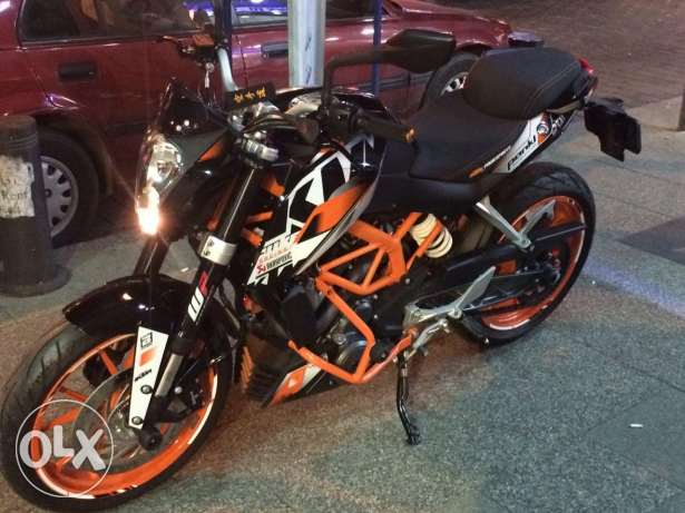 KTM 390- Model 2015 sport pack rarely used 2000 km only