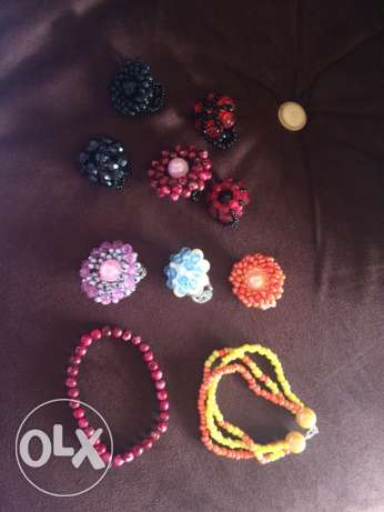 handmade rings and bracelets