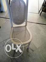 white cane kitchen chair in good condition $ 20