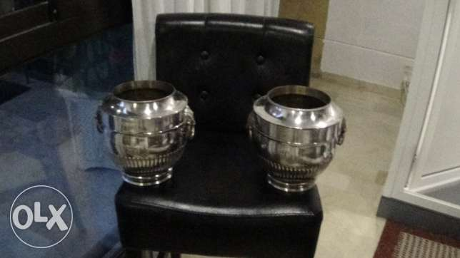 Silver Sheffield Plate Wine Coolers ( REALLY NEED TO SELL )