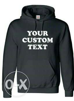 Customized hoodies and t shirts