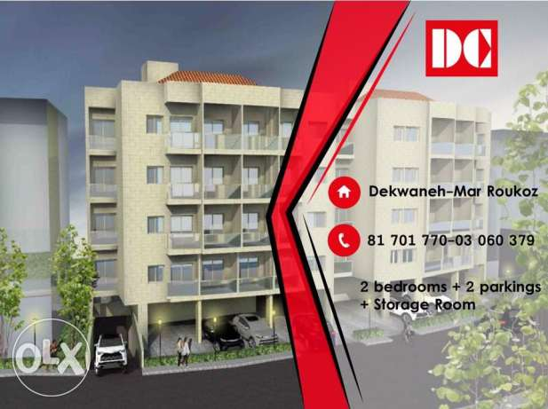Underconstruction apartments for sale in Mar Roukoz Dekwaneh