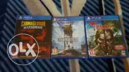 3 ps4 games all new