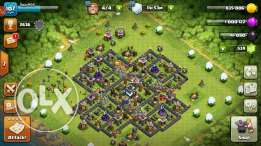 Clash country max th9 full with 550 gems and full upgraded troops