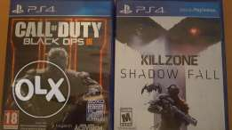Call of duty and kill zone shadow fall new only 70$