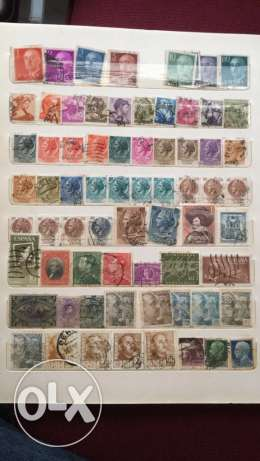 20 Pages of Old Stamps راس  بيروت -  7