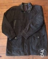Men jacket - (parka) for men- leather-used