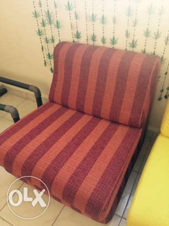 reddish brown couch