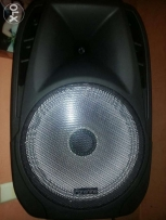 Powered rechargble speaker 15inch, usb, sdcard ,wireless mic,bluetooth