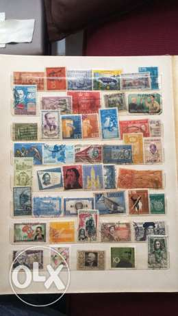 20 Pages of Old Stamps راس  بيروت -  1