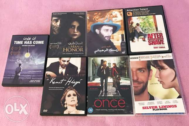 7 Original Dvds (Lebanese and American)