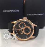Limited edition black automatic EA watch for men