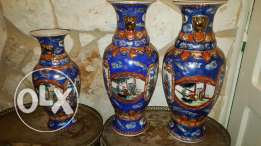 3 pieces of old Chinese vases