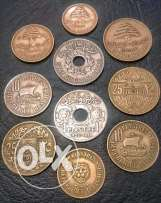 lebanese coins from 1925 to 1970