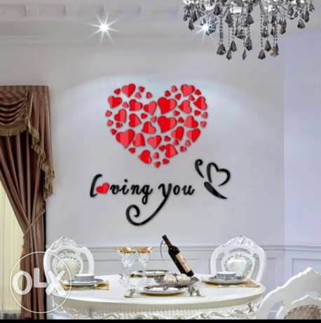 3D Lovely Hearts Home Wall Stickers Decor