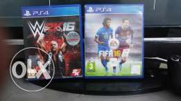 WWE 2K16/FIFA16 PlayStation 4