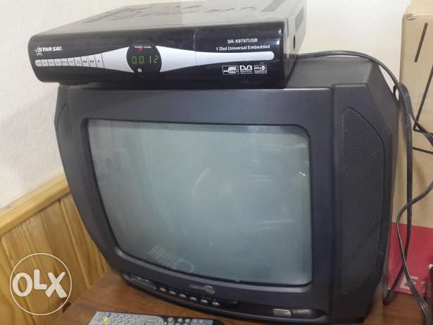 Tv 14 inch + receiver + DVD player