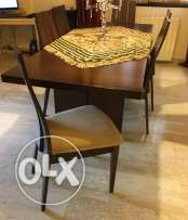 dining table adjustable size + 6 chairs