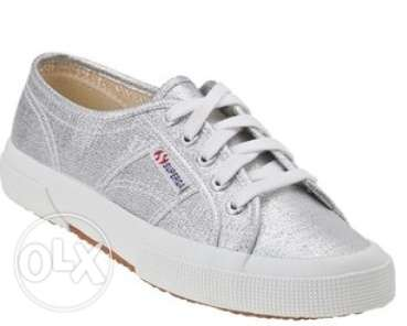 Superga Sneaker Silver Canvas for Women المرفأ -  1