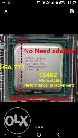 lntel Xeon E5462 2.8GHz/12M/1600Mhz/CPU equal to LGA775