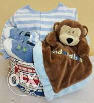 Baby Shower Gifts for Boys (175 Brown Monkey Basket)
