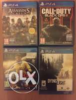 4 games ps4 for sale or trade