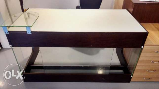 Office Desk - Wooden & Glass High-End Finish