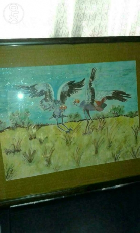 Birds water painting