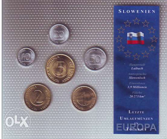 Slovenia Uncirculated set of 6 coins 1993 / 2000