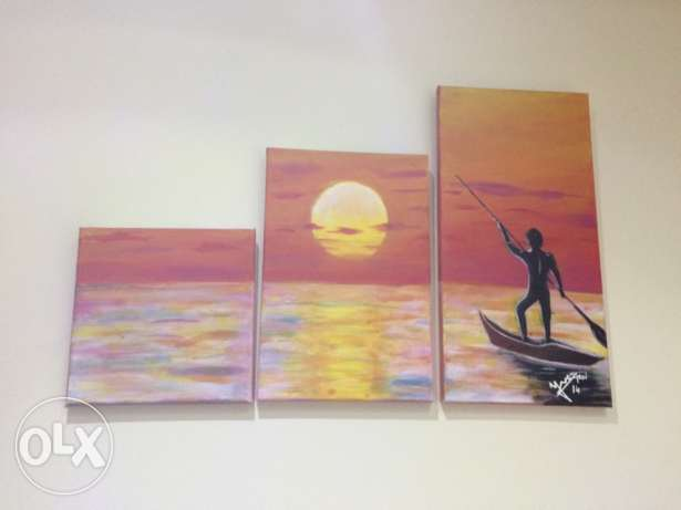 acrylic paintings 250$ each فنار -  2