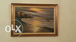 Oil painting includin wooden frame