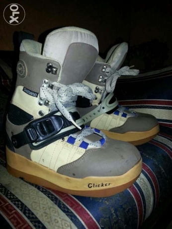 CLICKER SKI Boot Shimano made in KOREA US/M7 EUR/39( CM/25) still new