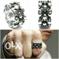 Skeleton ring for men small size 8