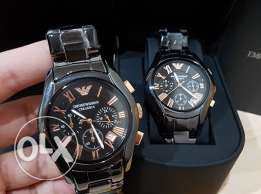 Twin EA watches for couples (new with the warranty and certificates)