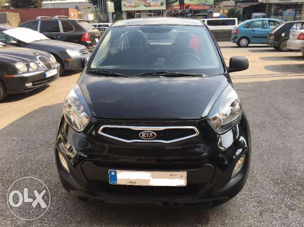 Kia Picanto 2012-Black-Like new غازير -  1