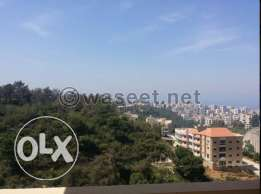 Apartment for sale in a quiet area in bchamoun with a terrace and view