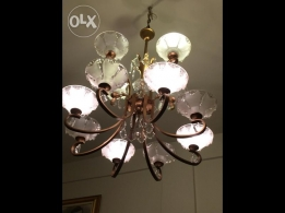 50+ years one of a kind old copper french chandelier gold coated